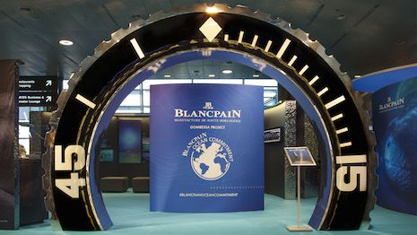 Luxury Daily Blancpain pops up at Zurich Airport to promote ecological cause  Blancpains exhibit at Zurich Airport  Swiss watchmaker Blancpain is raising awareness for its oceanic heritage and the need to protect marine life through an exhibit at Zurich Airport.  Coinciding with the launch of its Ocean Commitment II timepiece Blancpain is hosting a month-long display at the Zurich Airport Airside Center. This highly trafficked part of the airport sees 1.7 million visitors a month making this…