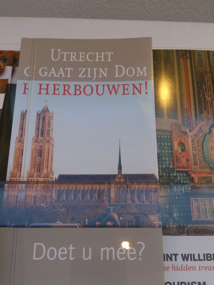 Leuke en pakkende brochure, die de aandacht trekt door de Dom op de voorkant.