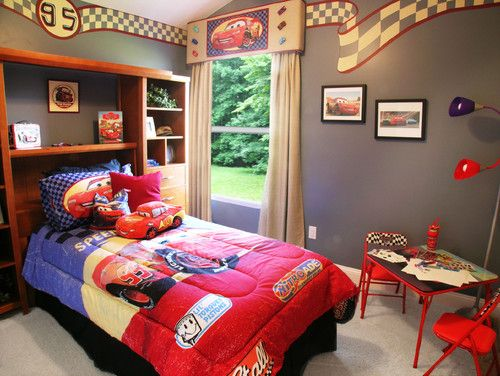 Disney Toddlers Bedroom Decorating Ideas | kids bedroom theme decorating with disney cars theme contemporary kids ...
