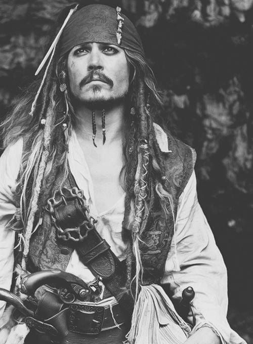 Johnny Depp - Pirates of the Caribbean / Black & White Photography