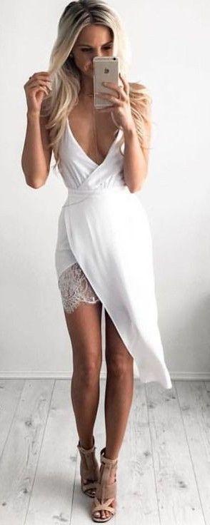 Wrap Little White Dress                                                                             Source