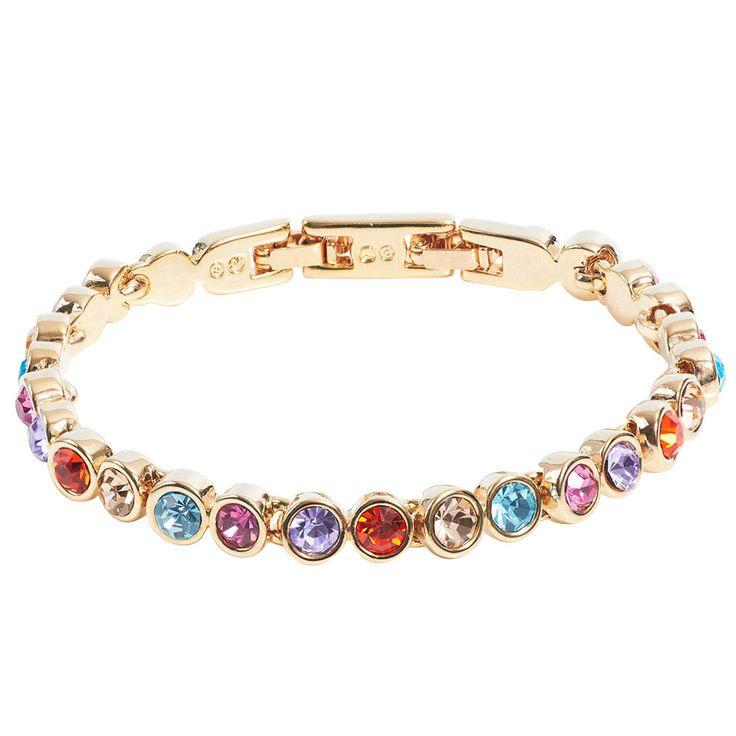 Aus der Tennisarmband Kollektion von Stella-Bijou mit Swarovski Kristallen