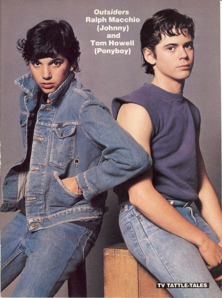 Ralph Macchio & C. Thomas Howell - The Outsiders. One of my favorite books became a favorite movie as well.