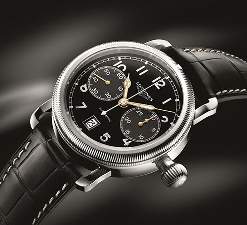 Elegance Combined with Functionality LONGINES the Avigation Oversize Crown Set (PR/Pics http://watchmobile7.com/data/News/2013/08/130829-longines-Avigation_Oversize_Crown.html) (1/4) #watches #longines @not Sury Watches