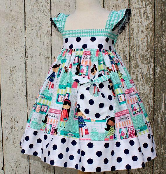 Girls Flutter Sleeve Dress  Summer Dress in by ItsaBowsLife, $52.00
