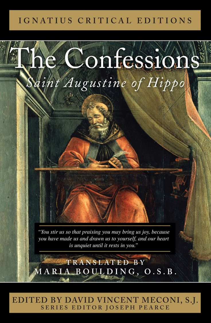 confessions by saint augustine Librivox public domain recording of confessions, by saint augustine of hippo confessions (latin: confessiones) is the name of an autobiographical work, consisting of 13 books, by st augustine of hippo, written between ad 397 and ad 398.