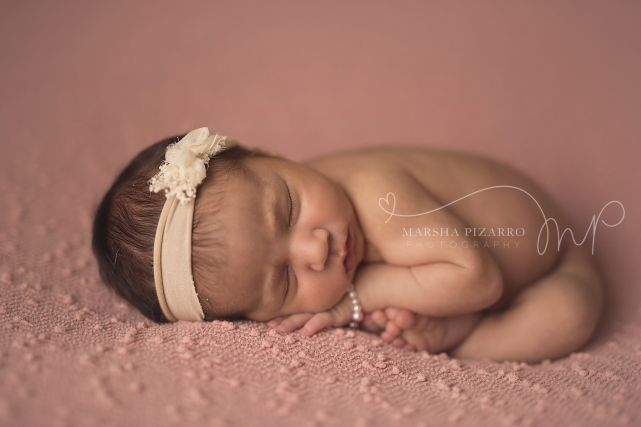 professional baby photography baby-girl-pink backdrop-taco-pose
