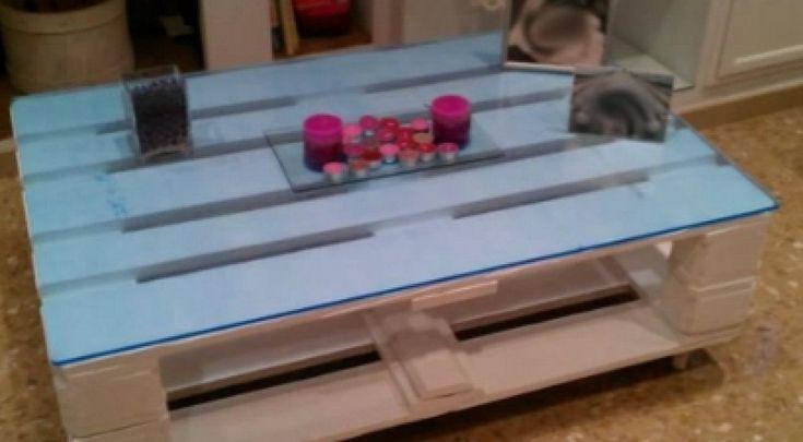 C mo hacer una mesa de centro para el sal n con palets for Como hacer una valla con palets