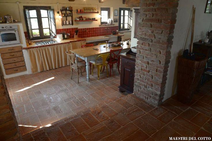 Pavimento rustico per interno e ed esterno ideale per - Piastrelle in cotto per interni ...