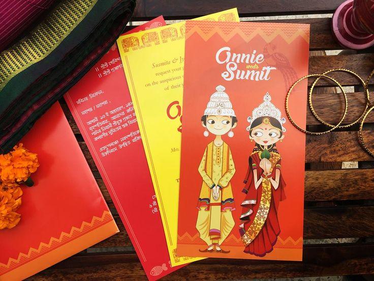 A bengali wedding invitation by Vineeta Grower