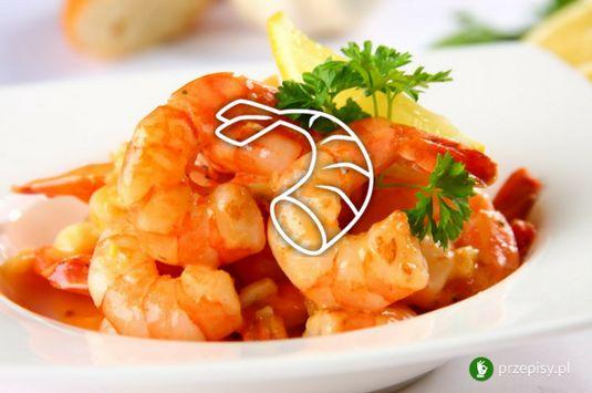 Krewetki z sosem czosnkowym #shrimp #mediterraneancuisine #tasty