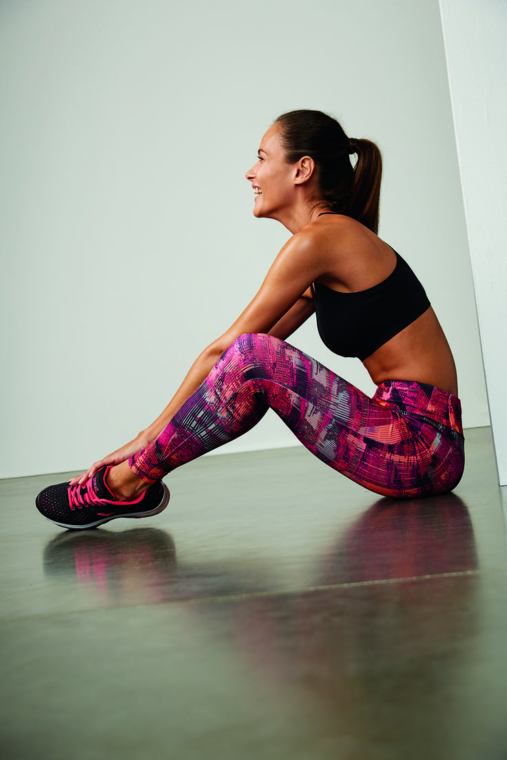 Pair a set of bright printed leggings with a neutral top for the perfect pop at the gym or yoga class.