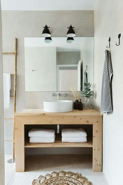 #Bathroom #wood #white #inspiration #interior #design #home #decor #details #civico19