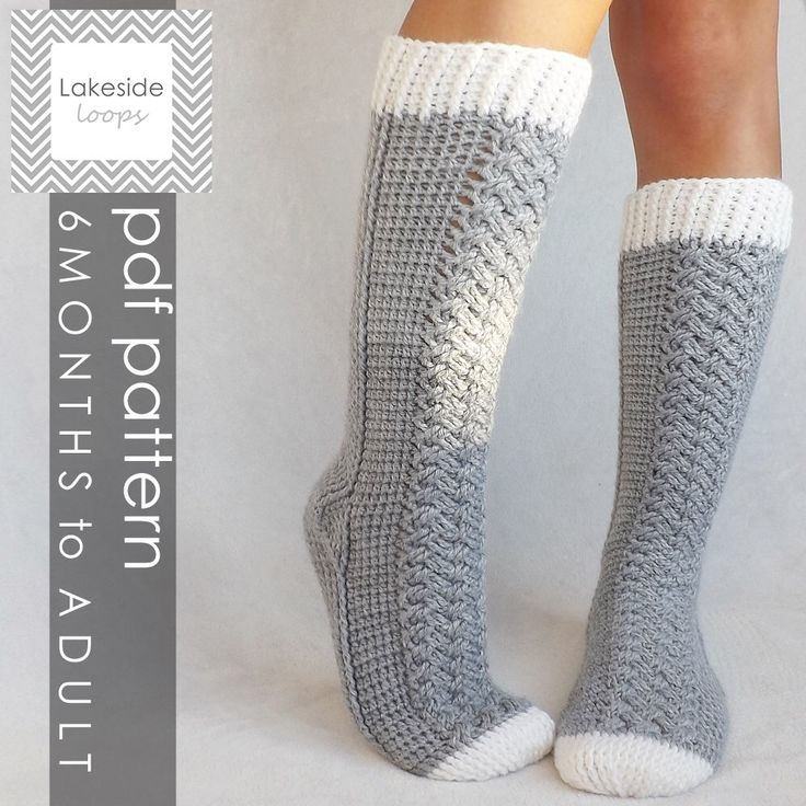 The Parker CROCHET Cable Socks PATTERN (includes 11 sizes - Baby (6 Months) through to Mens/Womens Adult sizes) by LakesideLoops on Etsy https://www.etsy.com/listing/263292501/the-parker-crochet-cable-socks-pattern