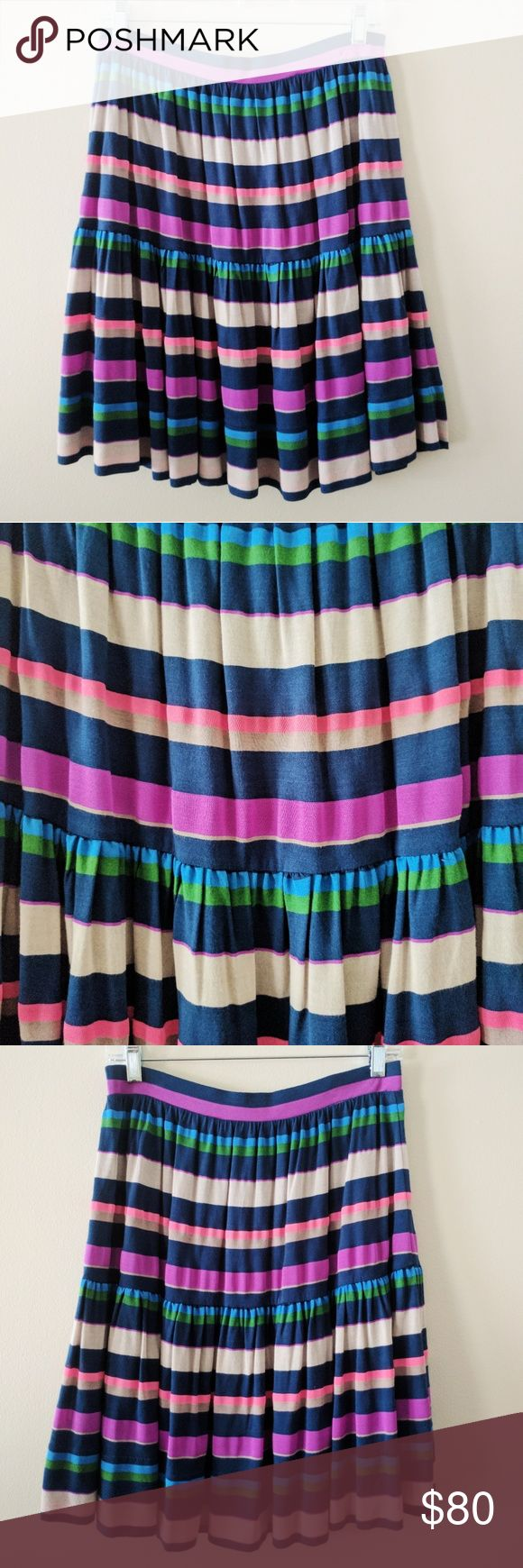 "Marc Jacobs multi color skirt New with tags, appx 20"", built in blue under slip, elastic waistband Marc Jacobs Skirts Midi"