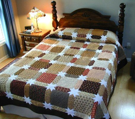 Morning Star Quilt. What a great pattern for those fabrics you can't bear to cut up.
