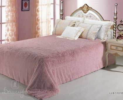 Купить покрывало из искусственного меха ГРИНФЕЛЬ розовое 220х240 от производителя Cloris (Китай)