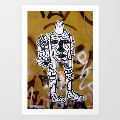 Cyborg Art Print by Plasmodi - $16.00