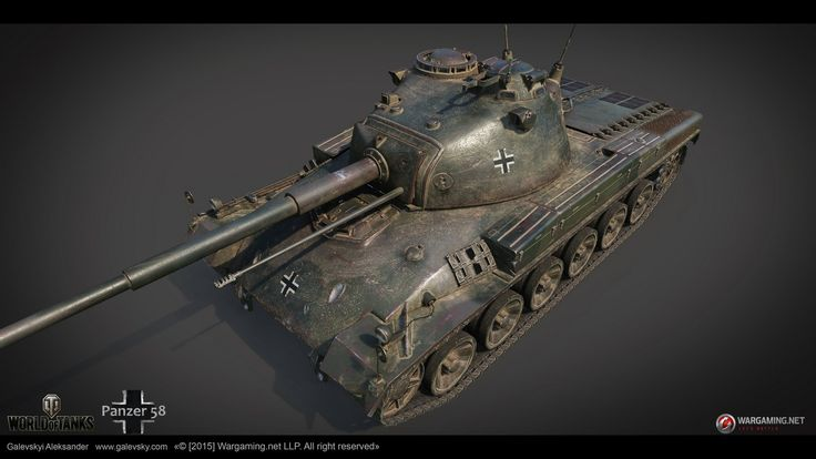 ArtStation - German medium tank Panzer 58 (TIER VIII), Aleksander Galevskyi