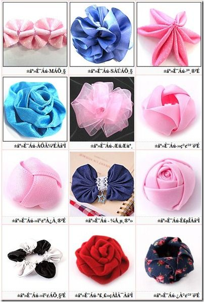 Fabric Bows and More: Lots of Ribbon Flowers Tutorials by ...