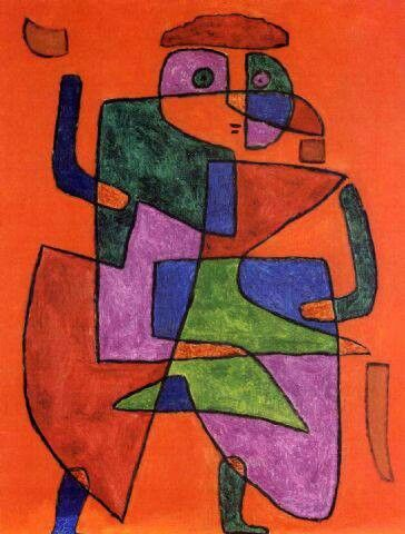 Paul Klee This might have been a Take A Line For a Walk painting