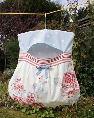 clothes pin bag idea Visit & Like our Facebook page! https://www.facebook.com/pages/Rustic-Farmhouse-Decor/636679889706127