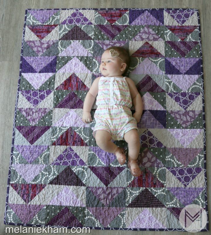 Learn how to make this flying geese quilt from start to finish!
