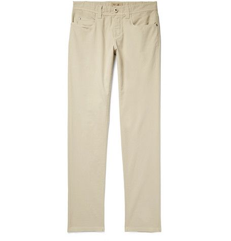 Slim-fit Stretch-cotton Trousers Loro Piana