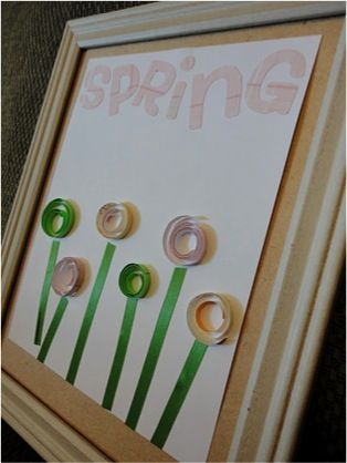 Cute flower picture for Spring. Looks easy to make.