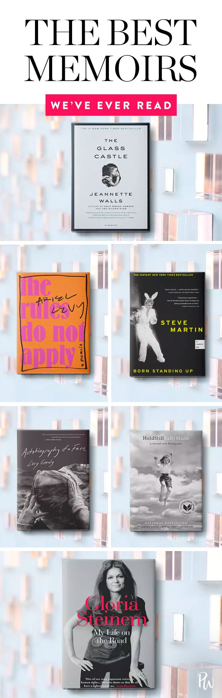 No matter your literary preferences, we're willing to bet there's at least one memoir here that will strike your fancy. Check out our all time favorite memoirs here. #memoirs #readinglist #booklist #books #newbooks