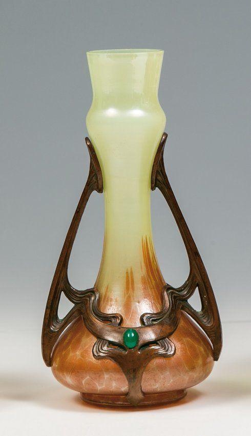 ferdinand von poschinger vase mit metallmontierung 330e bohemian glass pinterest. Black Bedroom Furniture Sets. Home Design Ideas