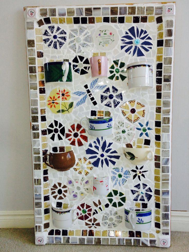 "My friend Bev loved my ""cup"" mosaic"