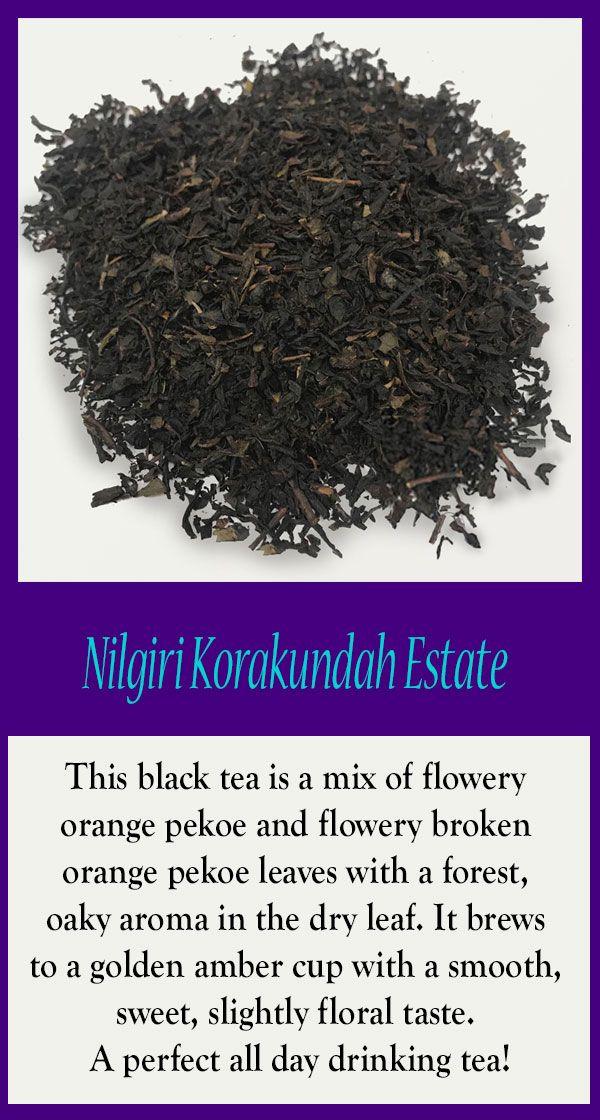 Nilgiri Korakundah Organic Black Tea Svtea Indiatea Blacktea Organictea Organic Black Tea Black Tea Loose Tea