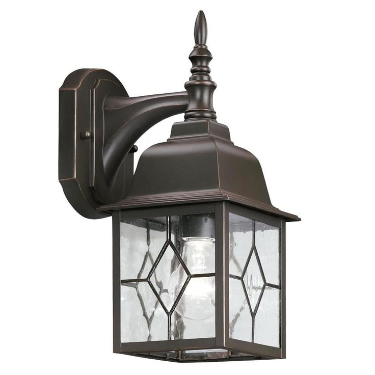 Shop Portfolio  Oil-Rubbed Bronze Outdoor Wall Light at Lowe's Canada. Find our selection of outdoor wall lighting at the lowest price guaranteed with price match + 10% off.