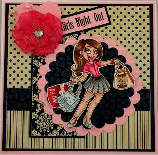 "Redonkadoodles.com - ""Shopping Diva"" Digital Stamp - Handmade Card Design By: justwordz.ca"