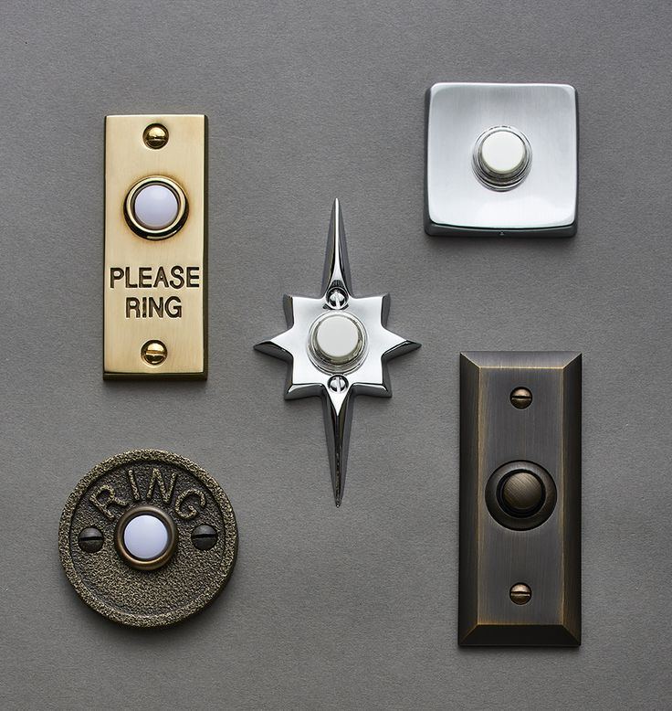 Mid-Century Square Doorbell Button | Rejuvenation
