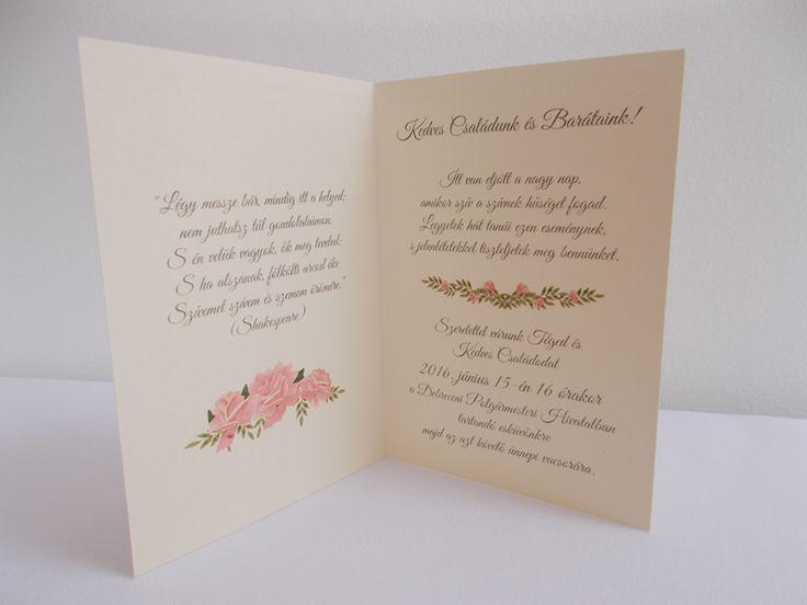 vintage esküvői meghívó 03.2