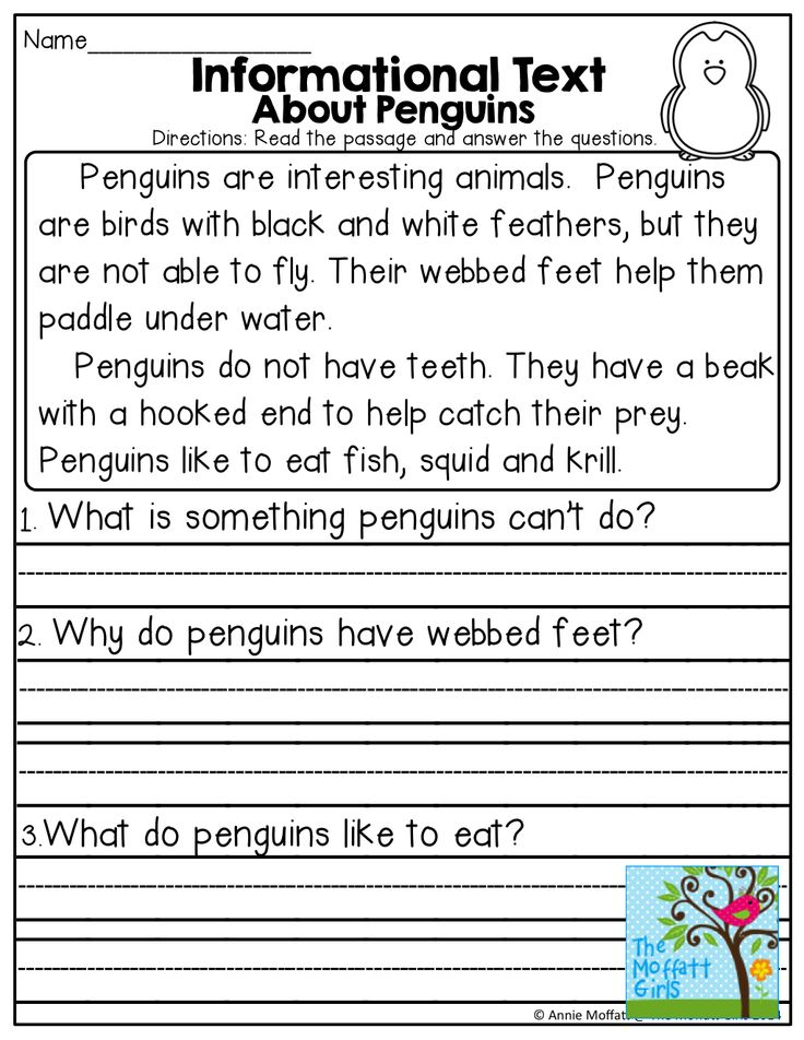 Informational Text about Penguins and TONS of other great printables!