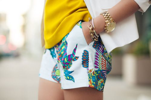 Shorts shorts shorts with the cutest pattern.
