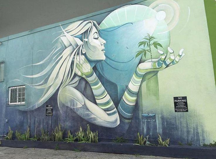 Venice Beach, Los Angeles, California, pezzo dello street artist statunitense Hans Walor aka Hvalor