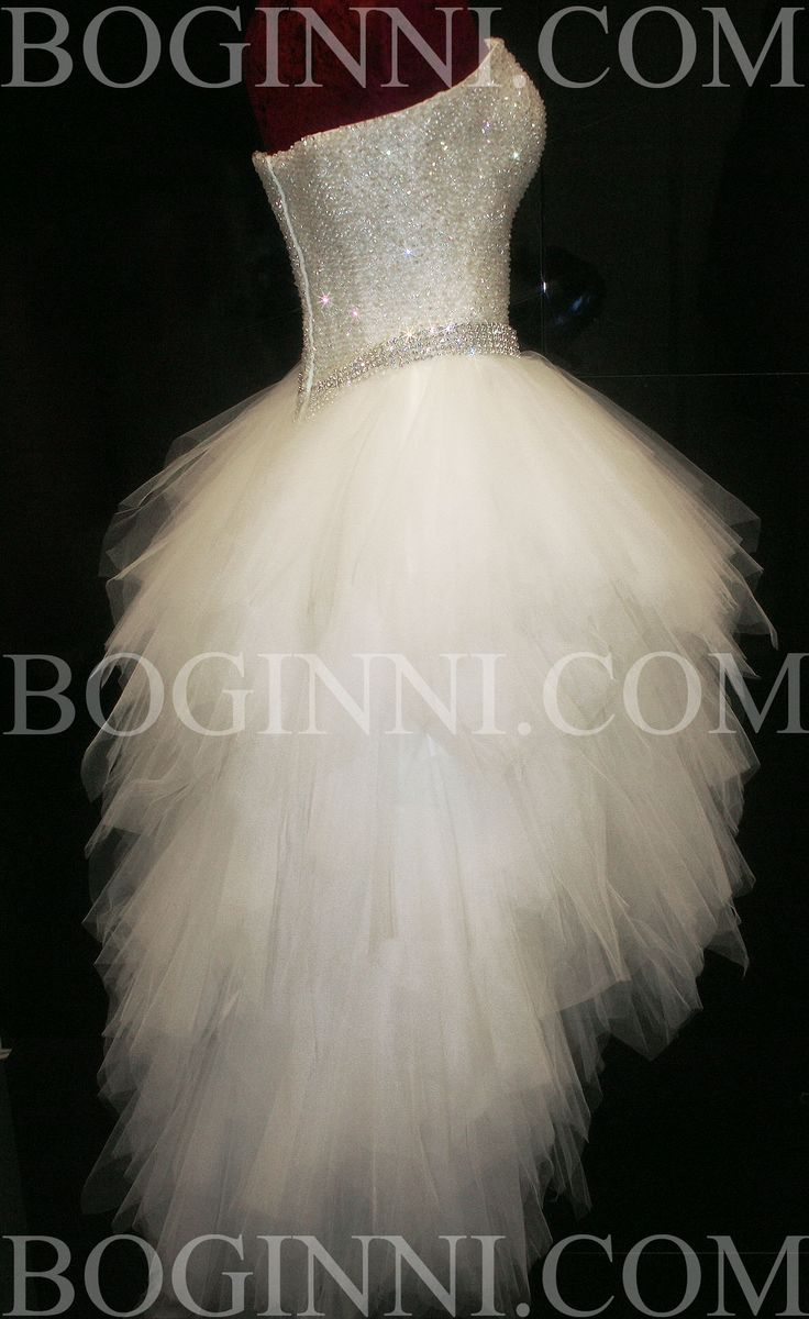 White Wedding Dresses with Diamonds | WHITE AB DIAMOND CRYSTAL BEADED BODICE MULLET WEDDING DRESS