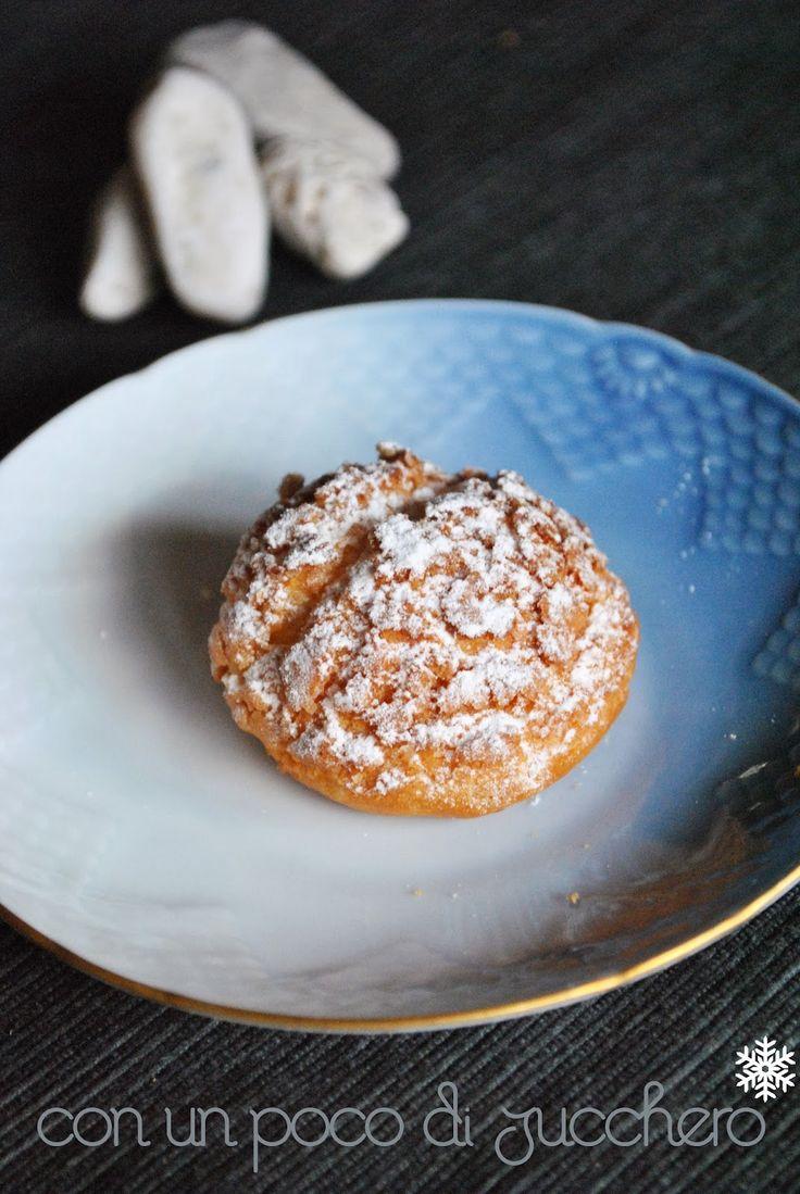 Con un poco di zucchero...: ♥ Choux Sablè - Bignè in crosta di Pasta Sablè