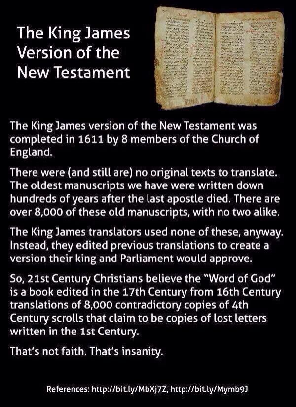 A brief history of the King James bible.