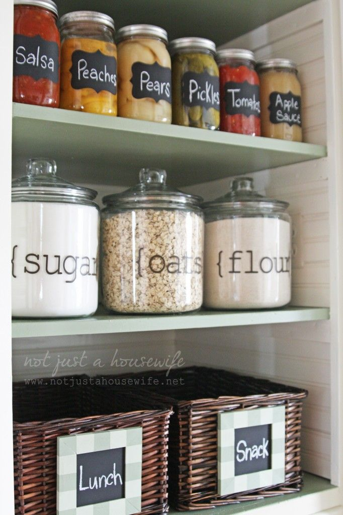 Pantry ideas kitchen pantry organization home for Organization ideas for kitchen pantry