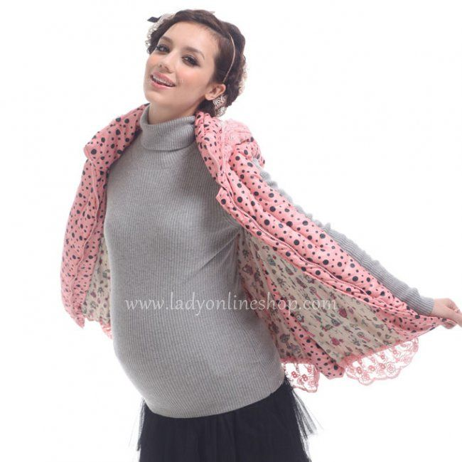 Autumn 2013 Ladies Style Pink Dots Hooded Warm Vest