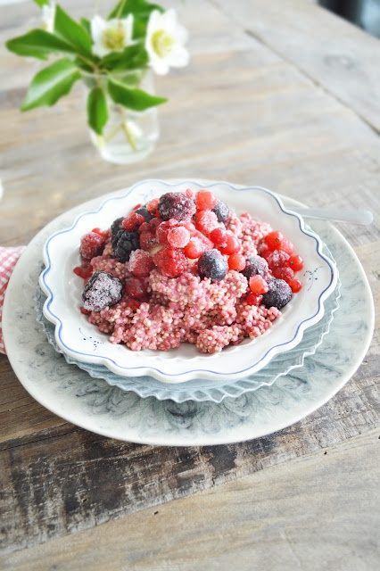 Berry Breakfast Quinoa. This recipe was super easy and can be reheated ...
