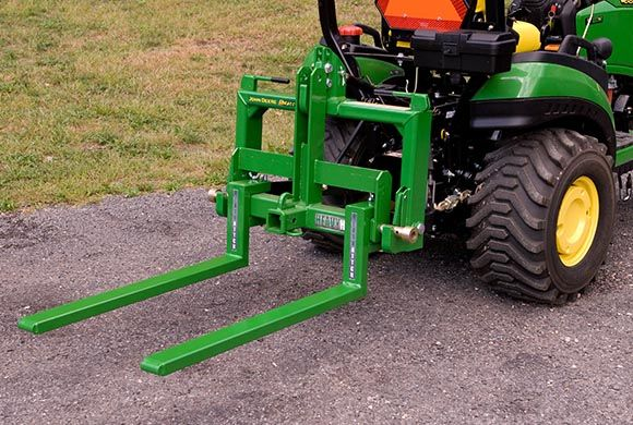 Garden Tractor Forks : Pallet forks carry all three point tractor
