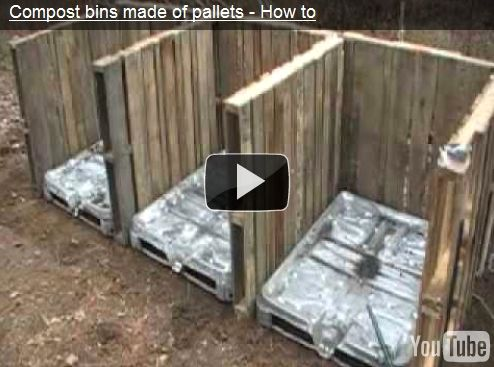 Recycled Pallet Compost Bins