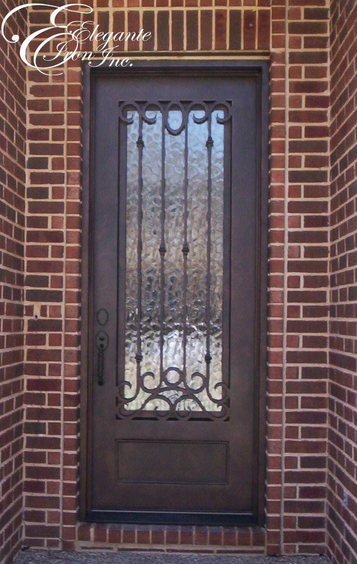 Astounding Custom Wrought Iron Front Door Single Doors Pinterest Door Handles Collection Dhjemzonderlifede