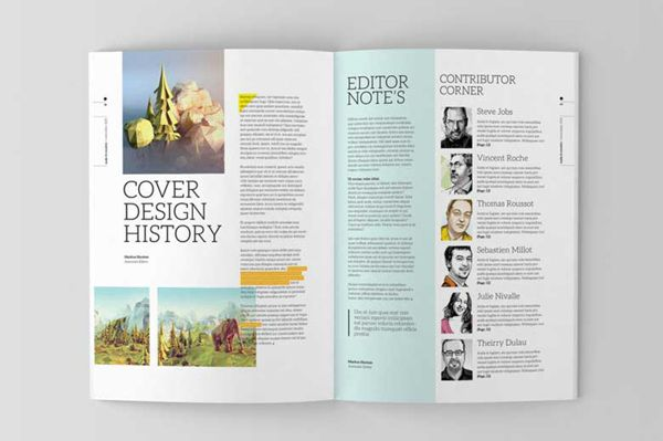 Indesign Magazine Template On Editorial Design Served Layout Pinterest